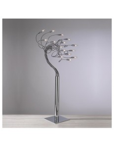 Top light: Winding piantana 15 luci cromata con bracci