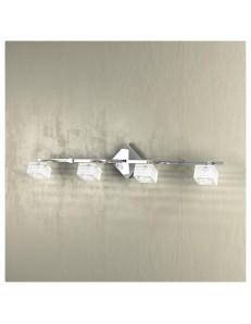 TOP LIGHT: Metropolitan applique lampada parete cubo cristallo righe satinate 4 luci in offerta