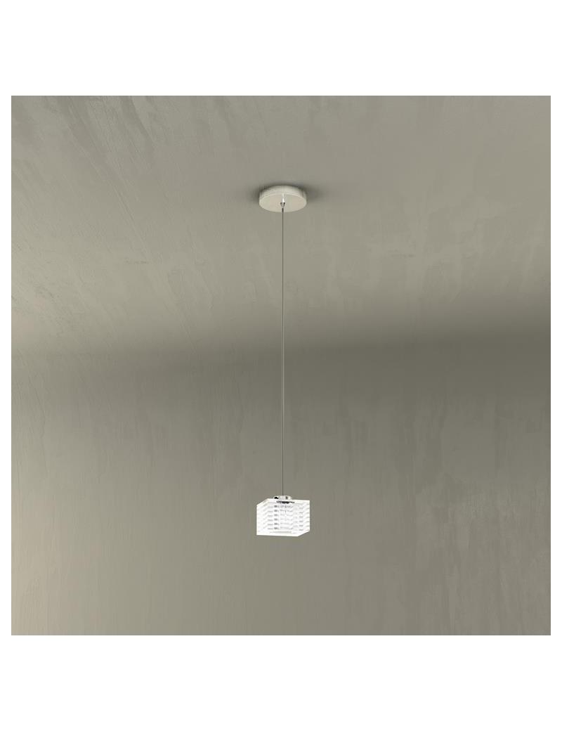 TOP LIGHT: Metropolitan sospensione regolabile ad 1 luce con corpo luce decorata a righe in offerta