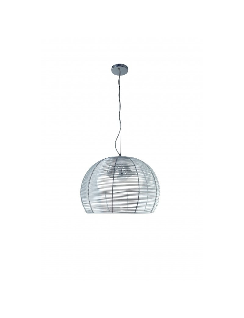 TOP LIGHT: Basket lampada sospensione sfera con fili in alluminio 40cm in offerta