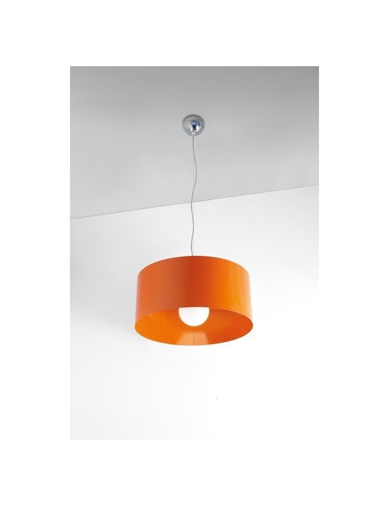 TOP LIGHT: Cylinder sospensione a cilindro moderno colore arancio 45cm in offerta
