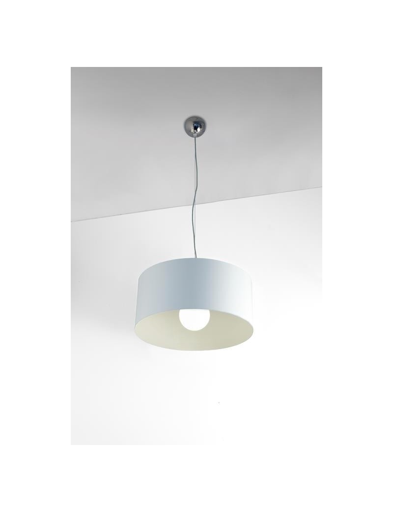 TOP LIGHT: Cylinder sospensione a cilindro colore bianco 45cm in offerta