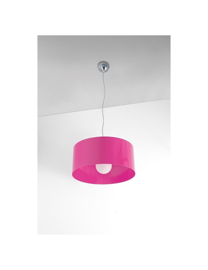 TOP LIGHT: Cylinder sospensione a cilindro moderno colore fucsia 45cm in offerta