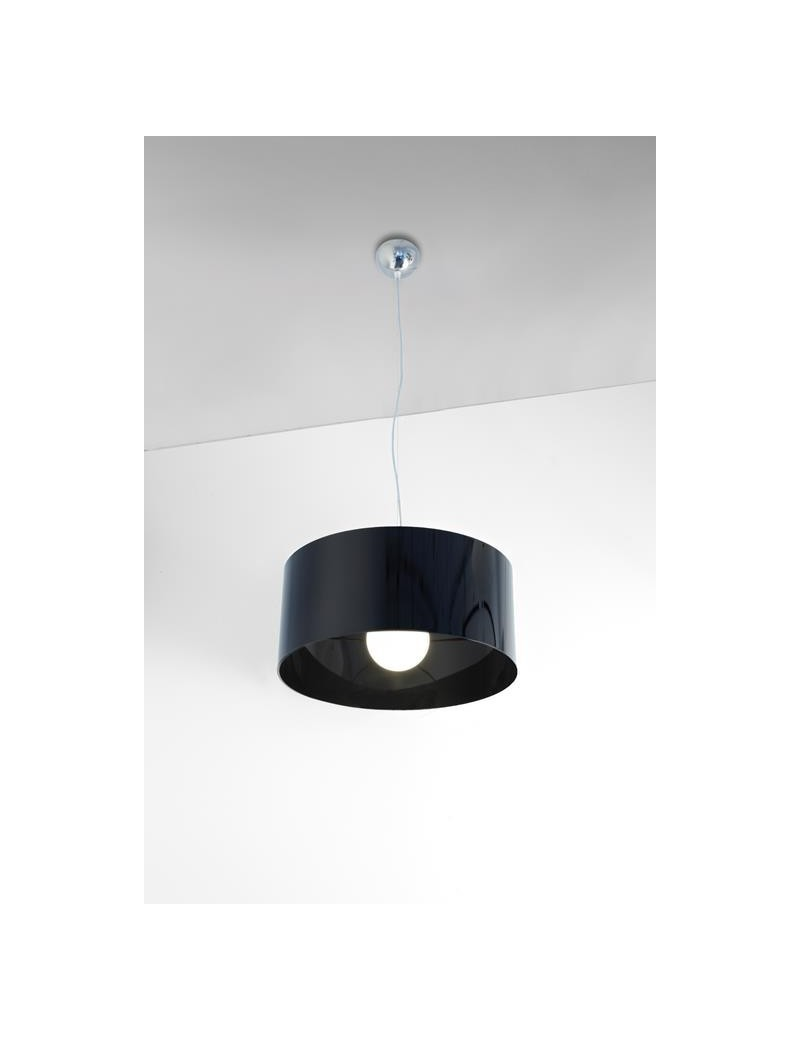 TOP LIGHT: Cylinder sospensione a cilindro moderno colore nero 45cm in offerta
