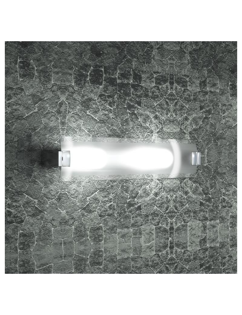 TOP LIGHT: Swinging applique grande vetro orientabile satinato e trasparente in offerta