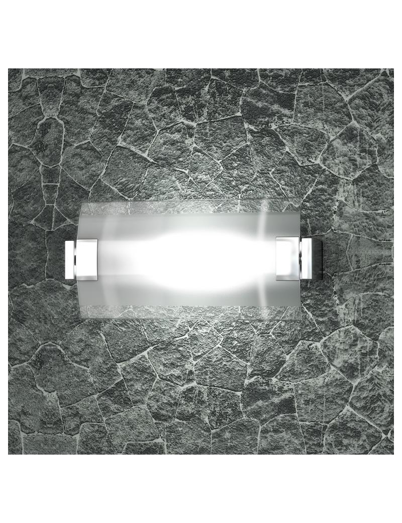 TOP LIGHT: Swinging applique media vetro orientabile satinato e trasparente in offerta