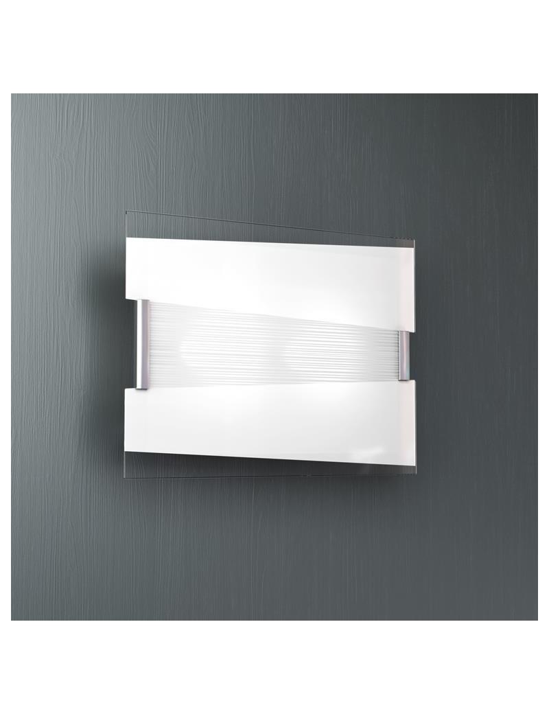 TOP LIGHT: Mad media applique metallo verniciato con vetro satinato e serigrafato in offerta