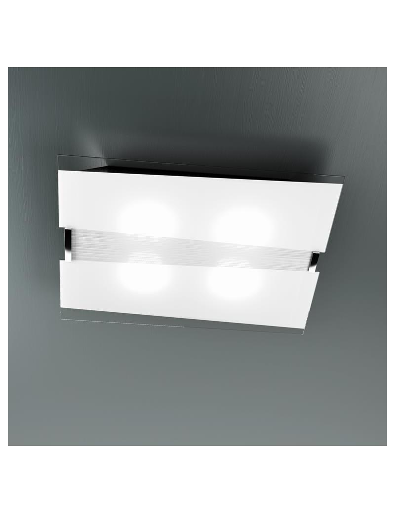 TOP LIGHT: Mad applique plafoniera metallo verniciato con vetro satinato e serigrafato in offerta