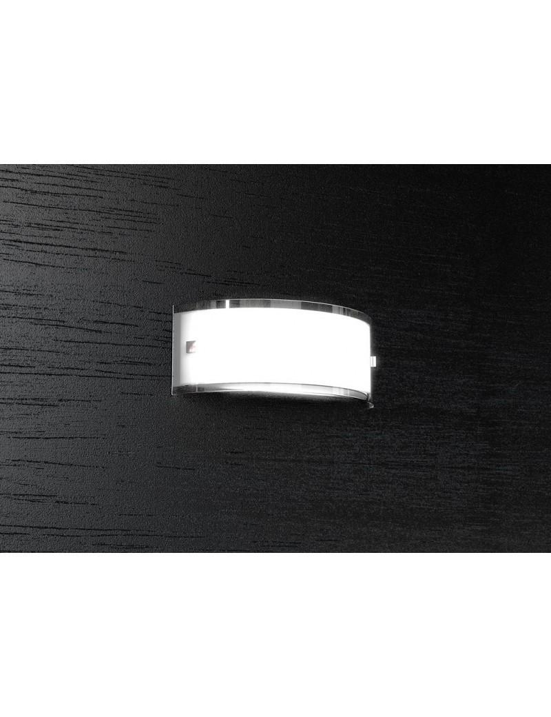 TOP LIGHT: Linear applique parete vetro curvo serigrafato bianco bordi laterali 30cm in offerta