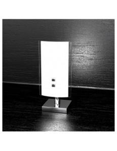 Top light: Linear lume lumetto moderno vetro curvo serigrafato