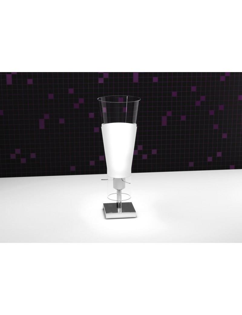 TOP LIGHT: Cone lume lumetto di forma conica cono in pirex satinato bianco 1 luce in offerta