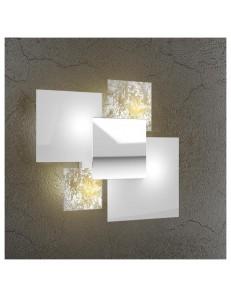 Shadow applique parete foglia oro lastra extrachiaro metallo verniciato