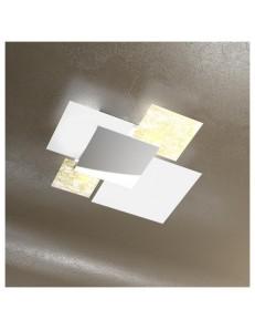 Shadow foglia oro plafoniera soffitto lastra frontale lucida in acciaio media