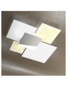 Shadow grande foglia oro plafoniera soffitto lastra frontale lucida in acciaio