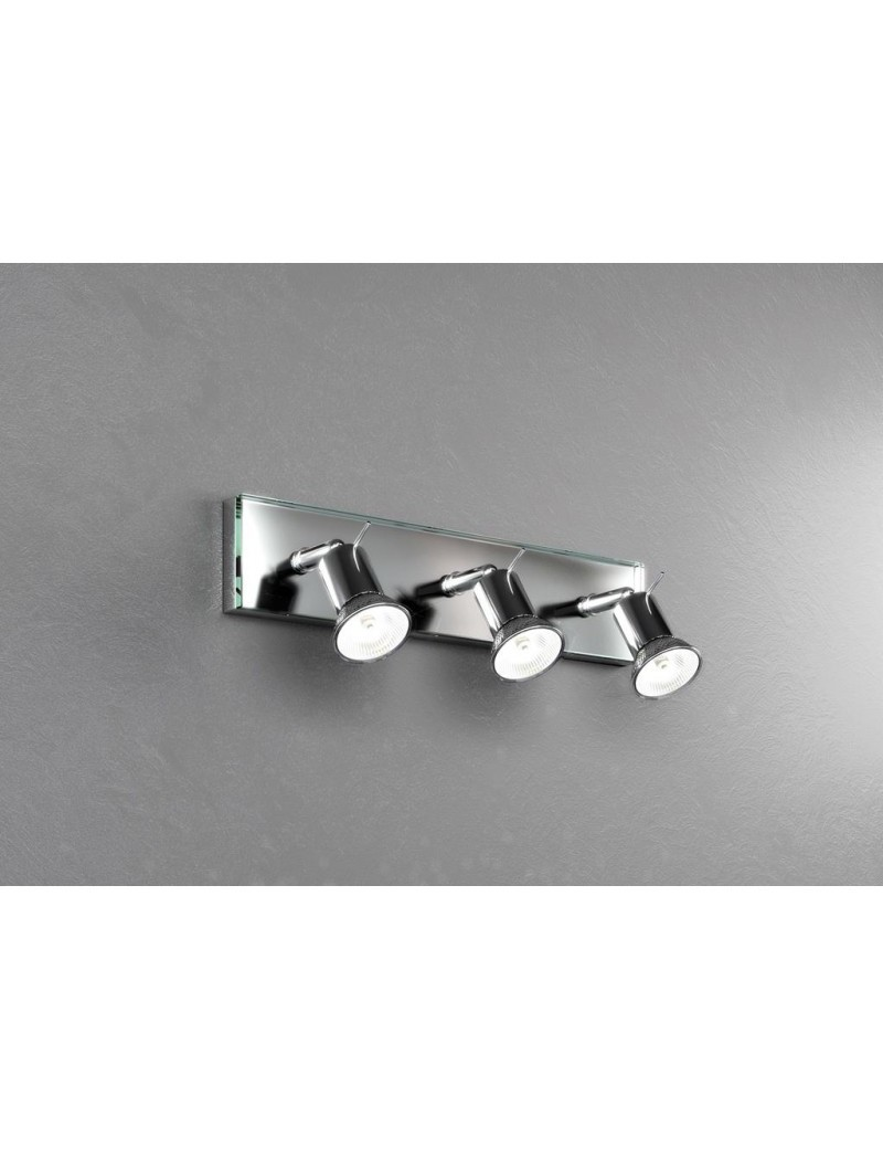 TOP LIGHT: Nuts 3 faretti in metallo cromato con vetro trasparente 1 luce in offerta