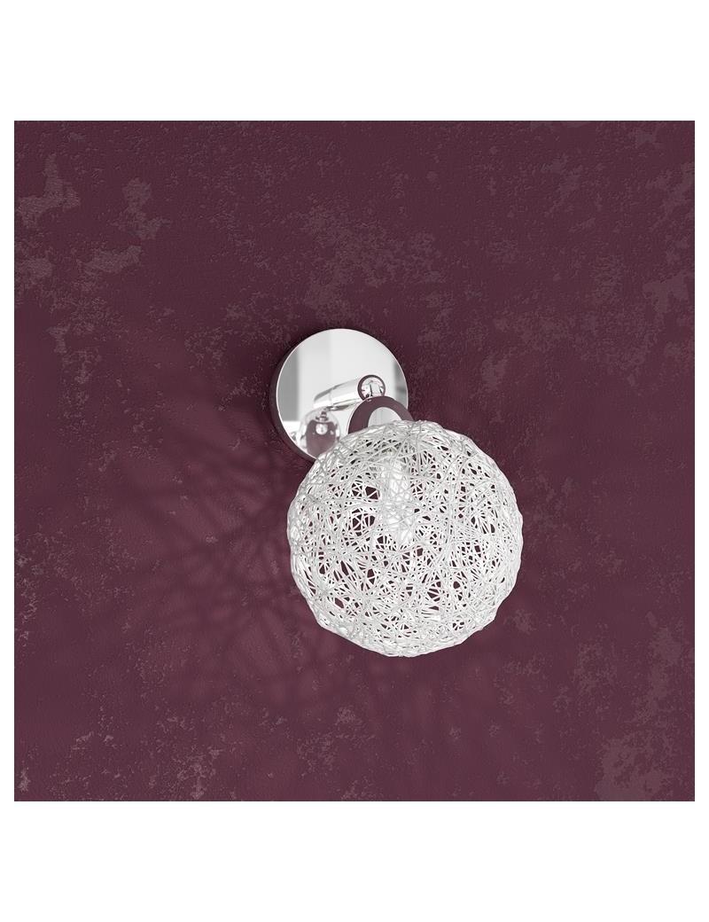 TOP LIGHT: Willow faretto regolabile forma sfera gomitolo alluminio struttura metallo in offerta