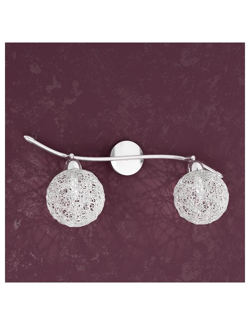 TOP LIGHT: Willow applique a 2 sfere bianco con montatura metallo in offerta