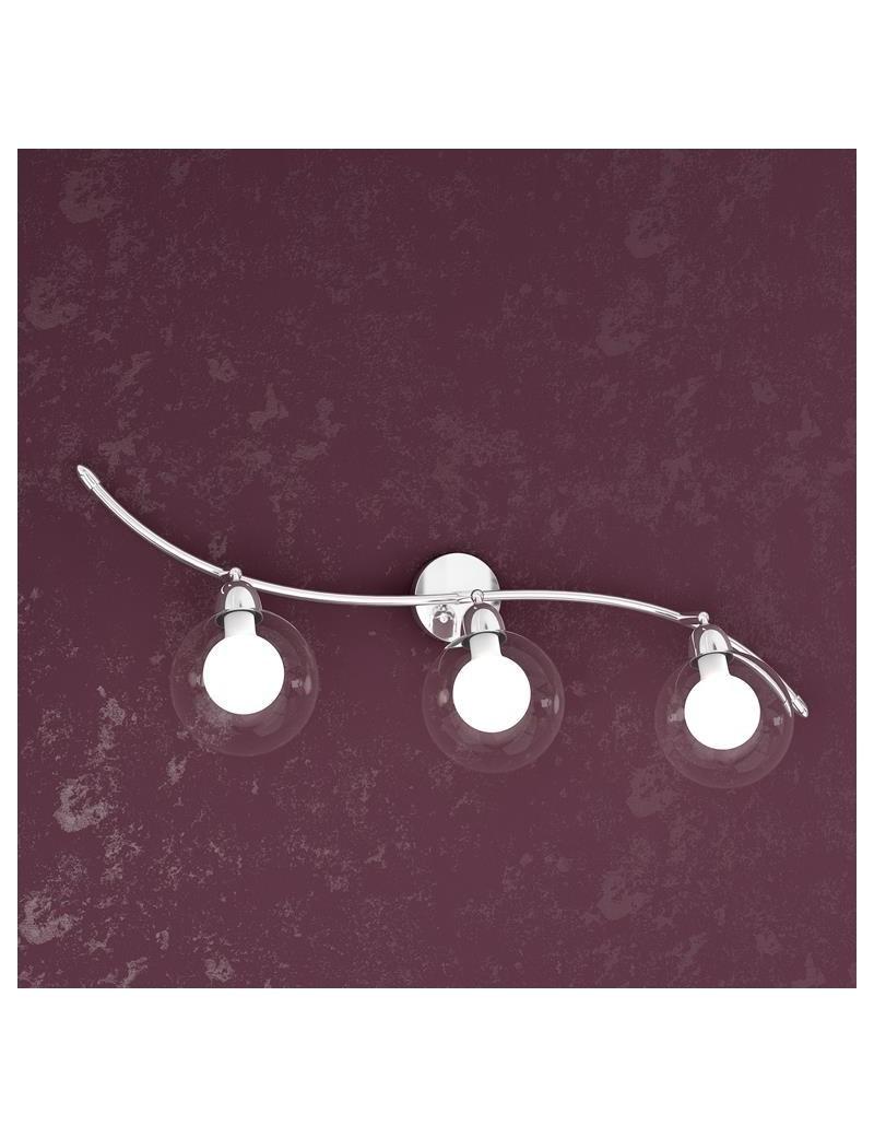 TOP LIGHT: Willow applique a 3 sfere regolabili bianco moderno montatura metallo in offerta