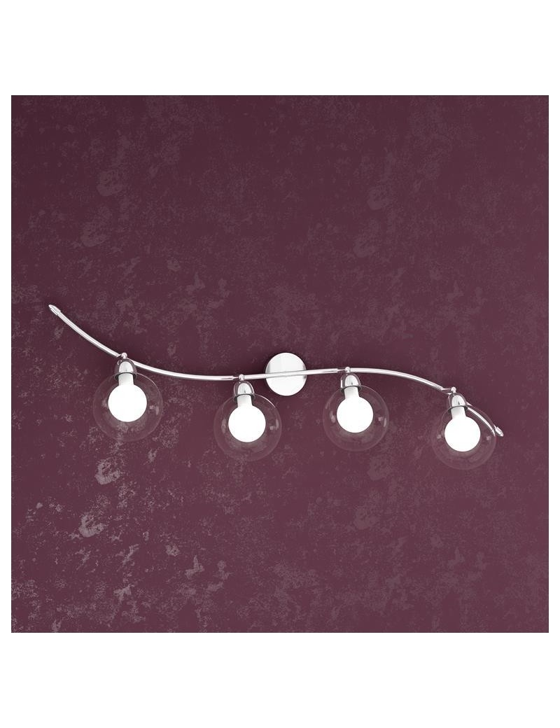 TOP LIGHT: Willow applique a 4 sfere regolabili bianco montatura metallo in offerta