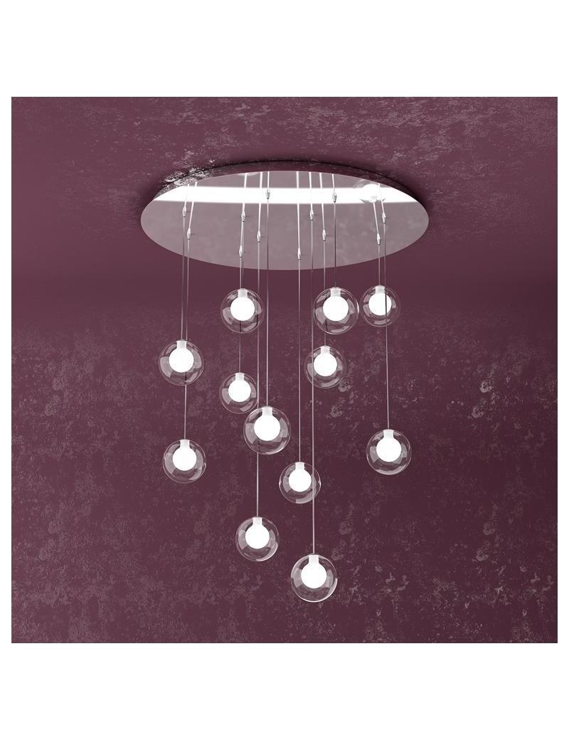TOP LIGHT: Willow sospensione con 12 sfere e luci di colore bianco in offerta