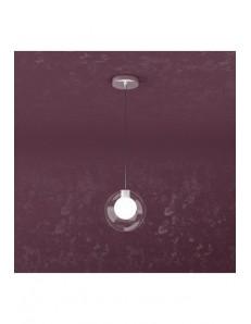 Willow sospensione ad 1 luce con sfera di colore bianco