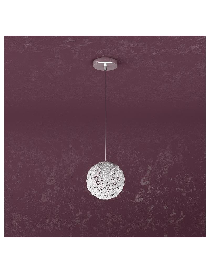 TOP LIGHT: Willow sospensione ad 1 luce con sfera gomitoli di allumini in offerta