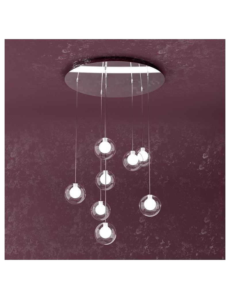 TOP LIGHT: Willow sospensione con 8 sfere e luci di colore bianco in offerta