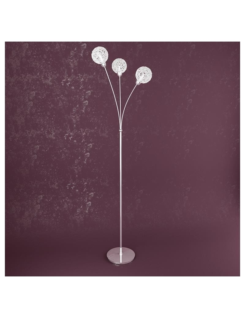 TOP LIGHT: Willow piantana moderna struttura metallo diffusori 3 sfere gomitoli alluminio in offerta