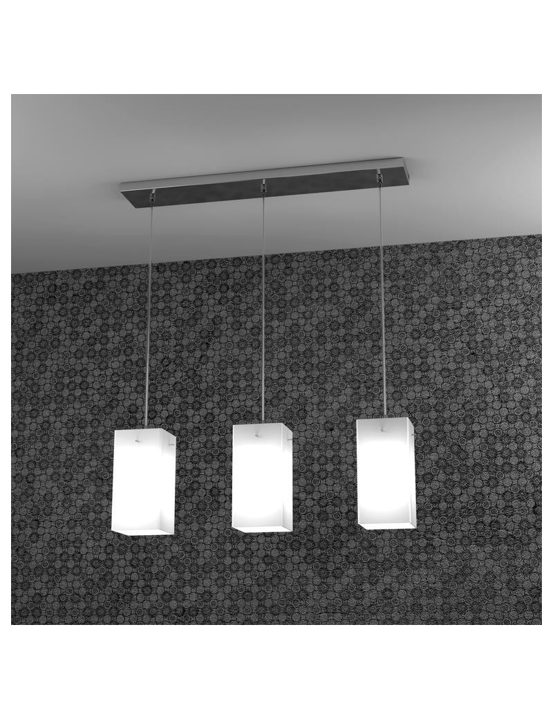 TOP LIGHT: Crazy sospensione a barra quadrato 3 diffusori acidati in offerta