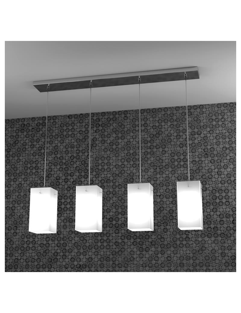 TOP LIGHT: Crazy sospensione a barra quadrato cucina camera soggiorno 4 diffusori acidati in offerta