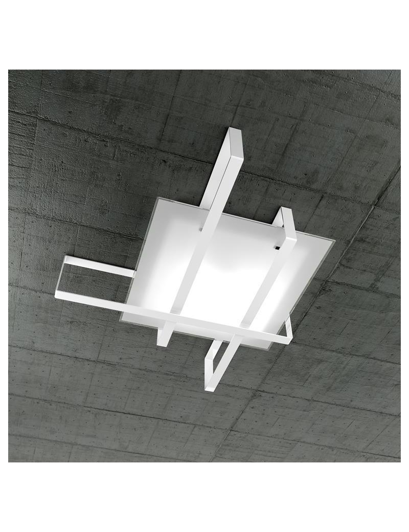 TOP LIGHT: Cross plafoniera con fascia decorativa bianca in offerta