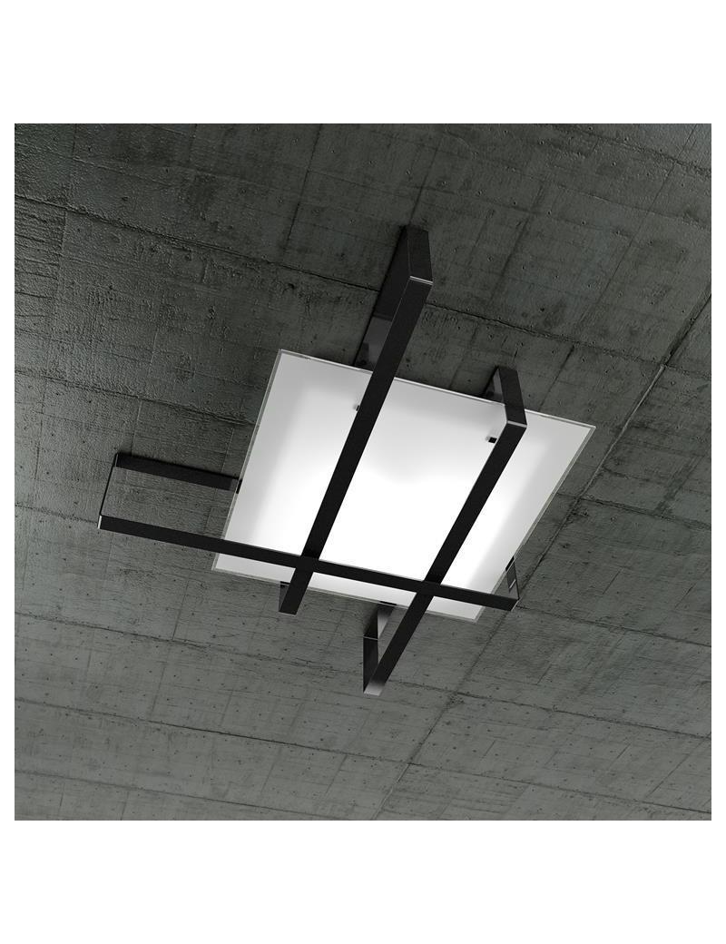 TOP LIGHT: Cross plafoniera con fascia decorativa nero in offerta