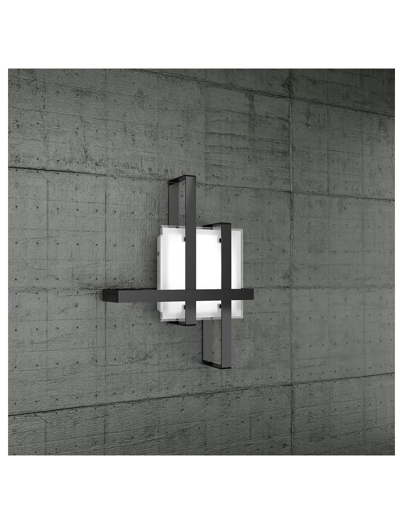 TOP LIGHT: Cross applique plafoniera con fascia decorativa nero in offerta