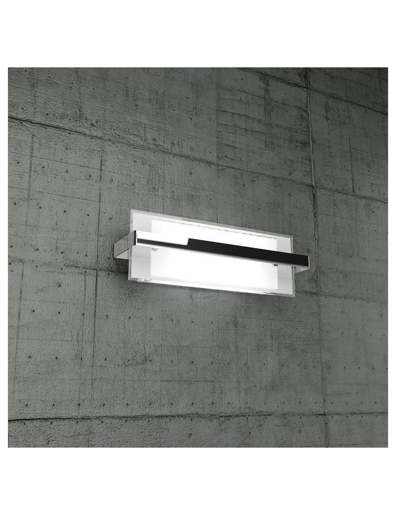 TOP LIGHT: Cross applique media in metallo con fascia cromo per soggiorno in offerta