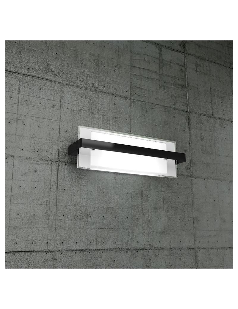 TOP LIGHT: Cross applique media in metallo con fascia color nero per soggiorno in offerta