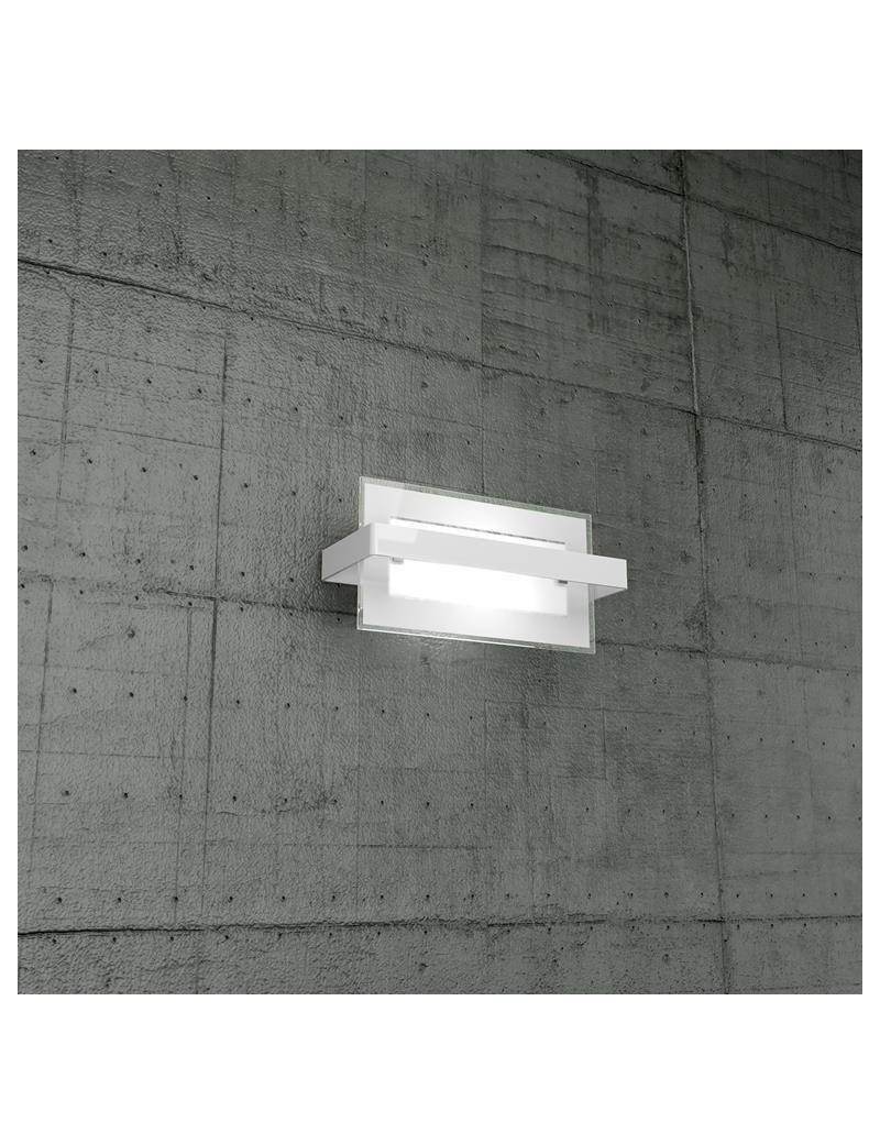 TOP LIGHT: Cross applique piccola in metallo diffusore vetro fascia decorazione bianco in offerta