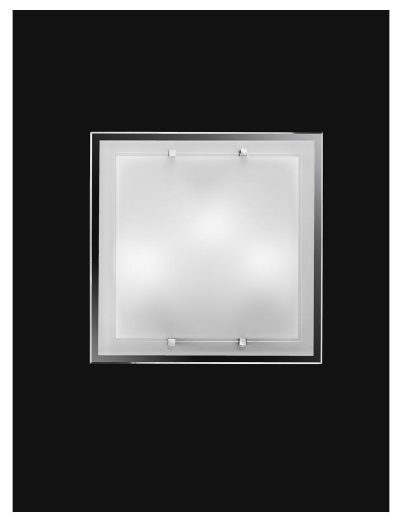 PERENZ: Plafoniera bianca quadrata in vetro in offerta