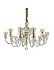 MR DESIGN: Lampadario 12 bracci in cristallo oro e rosa per soggiorno in offerta