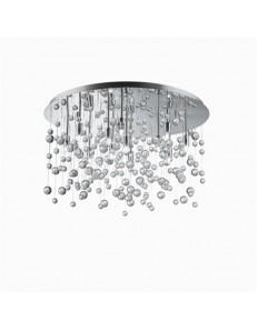 MR DESIGN: Plafoniera rotonda effetto neve con pendenti in vetro trasparente in offerta