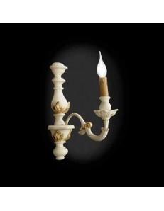 ONDALUCE: Agata lampada applique parete avorio oro classico in offerta