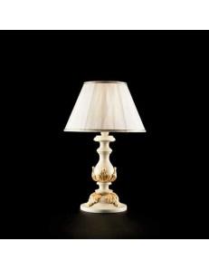 ONDALUCE: Agata piccolo lampada lume avorio oro classico per camera da letto in offerta