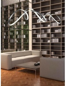 ONDALUCE: Sospensione LED metallo intreccio moderno soggiorno camera in offerta