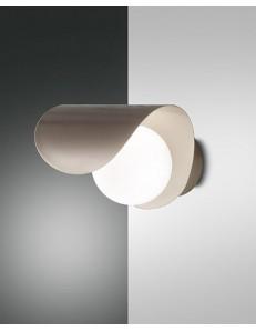 FABAS LUCE: Adria applique LED moderna sferica con lastra curva metallo oro in offerta