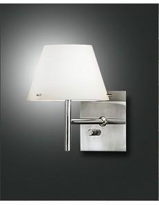 Alexia applique con paralume in vetro bianco camera da letto soggiorno