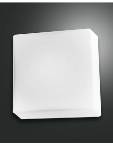 Alix applique plafoniera piccola bianca quadrata economica ingresso