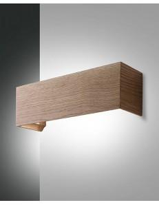 Badia applique in legno di quercia con legno integrato da 16 w corriodio camera soggiorno fabas