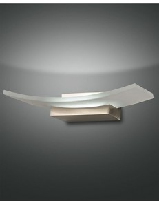 Bar applique metallo lastra vetro LED 12 watt corridoio camera soggiorno ingresso