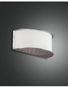 FABAS LUCE: Book applique nikel con vetro mezza luna bianco in offerta