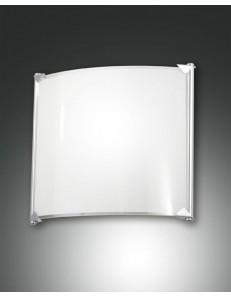 Brixi applique quadrata led 12w bianca bagno ingresso corridoio bordo cromo