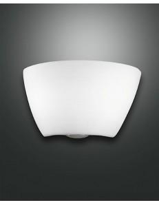 Cap applique svasata in vetro bianco 35cm moderna ambiente corridoio ingresso